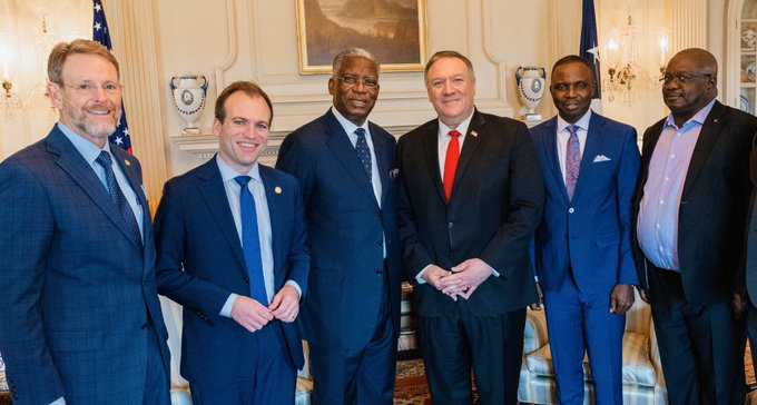 PSJ Nigeria & ICON met with US Secretary of State, Mr. Mike Pompeo