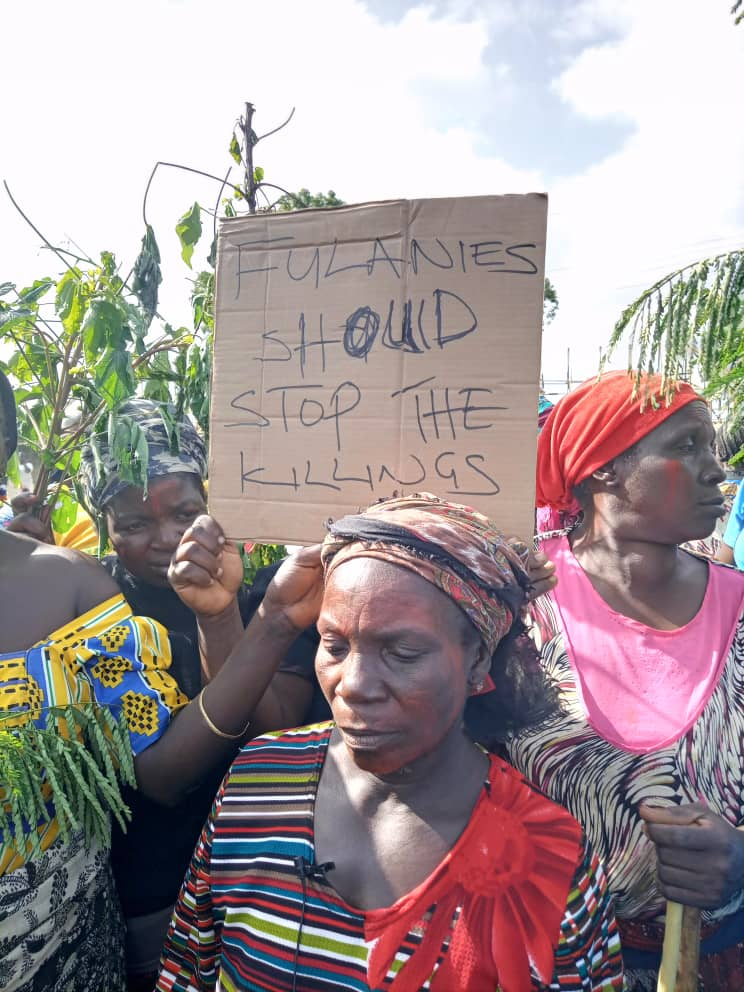 Enough is enough! Women in Plateau State protest killings by Fulani herdsmen