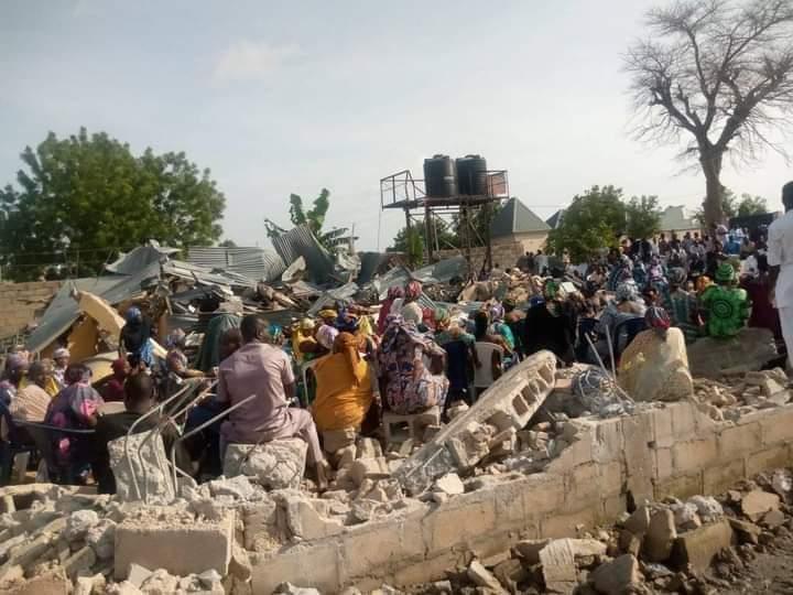 Christians worship in rubble amid Maiduguri church demolition